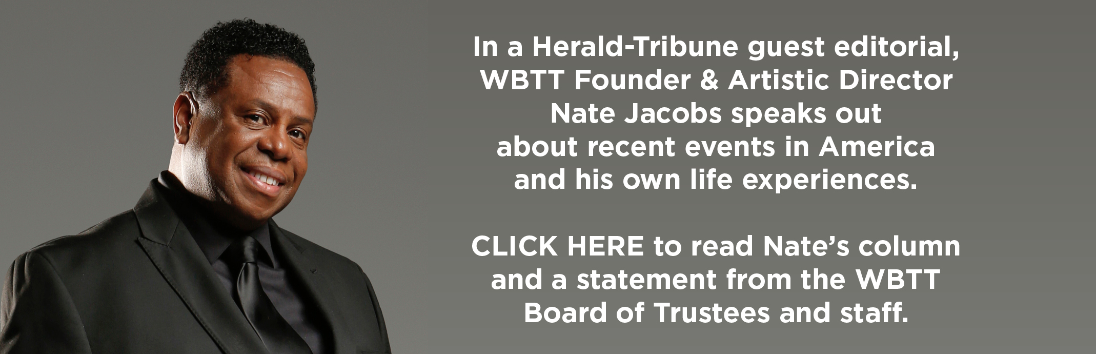 WBTT STATEMENTS ON RECENT EVENTS IN AMERICA
